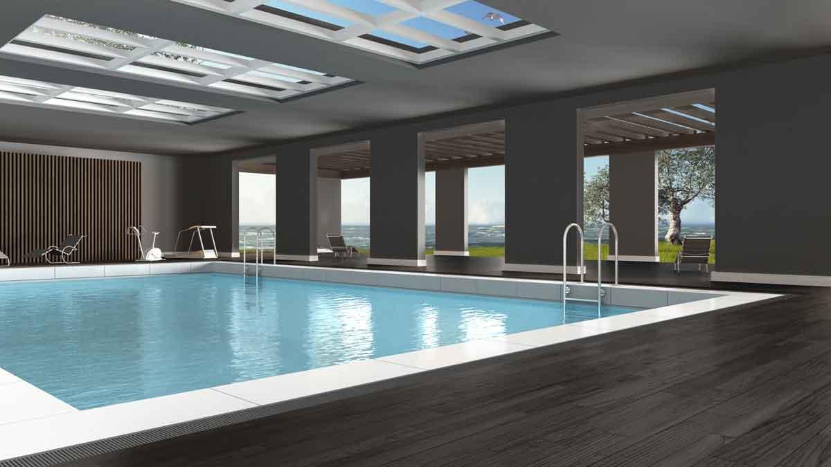 vakantiehuis met inpandig zwembad
